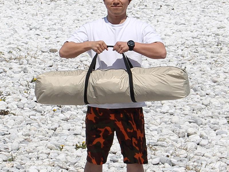 ワイドビーチテントの各部の特徴(キャリーバッグ)