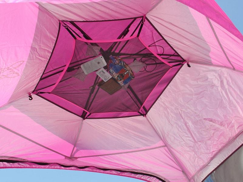 ワイドビーチテントの各部の特徴(トップメッシュシート)