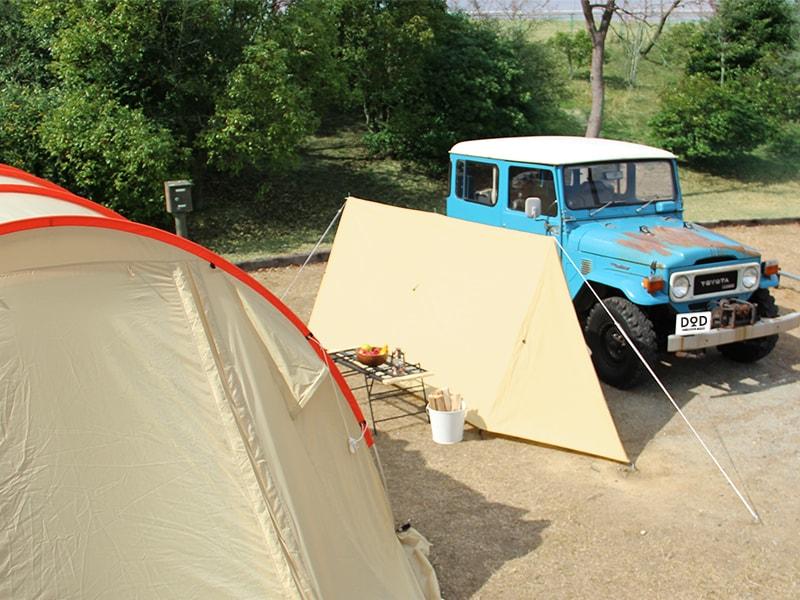 カベテントのメインの特徴(テントや車を火の粉から守る)