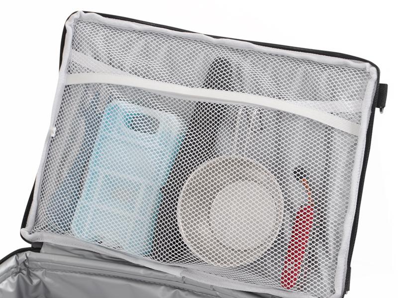 ライダーズクーラーバッグの各部の特徴(保冷剤ポケット)