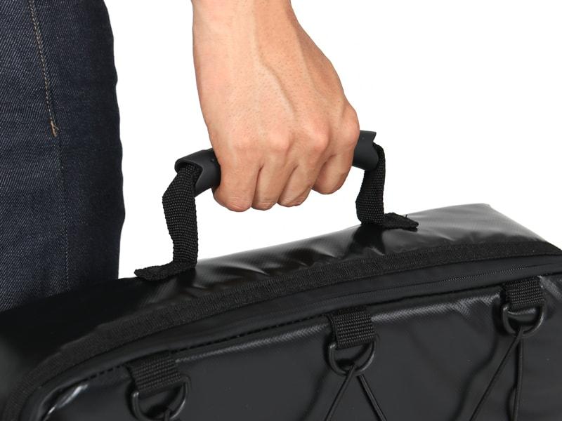 ライダーズクーラーバッグの各部の特徴(ハンドル搭載)