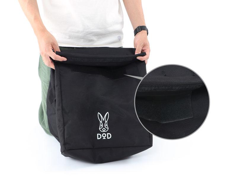 ステルスエックスの各部の特徴(ゴミを持ち帰るときのバッグとして使用可能)