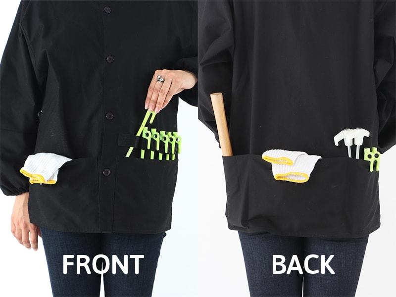 キャンパーノ・カッポーギのメインの特徴(アウトドアで便利な大容量ポケット)