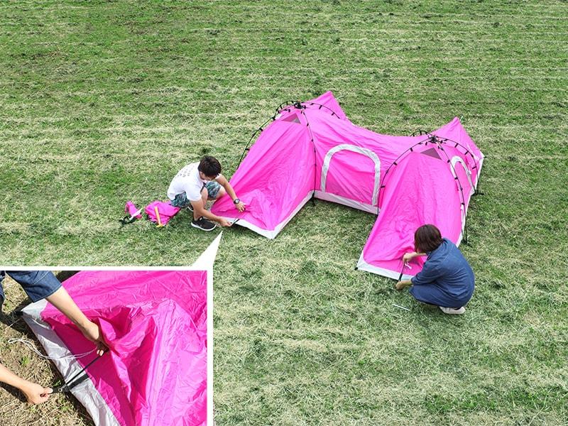 Hテントの組立/設営方法