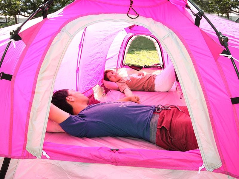 Hテントの使用の一例