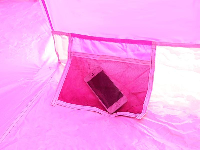 Hテントの各部の特徴(便利なインナーポケット)