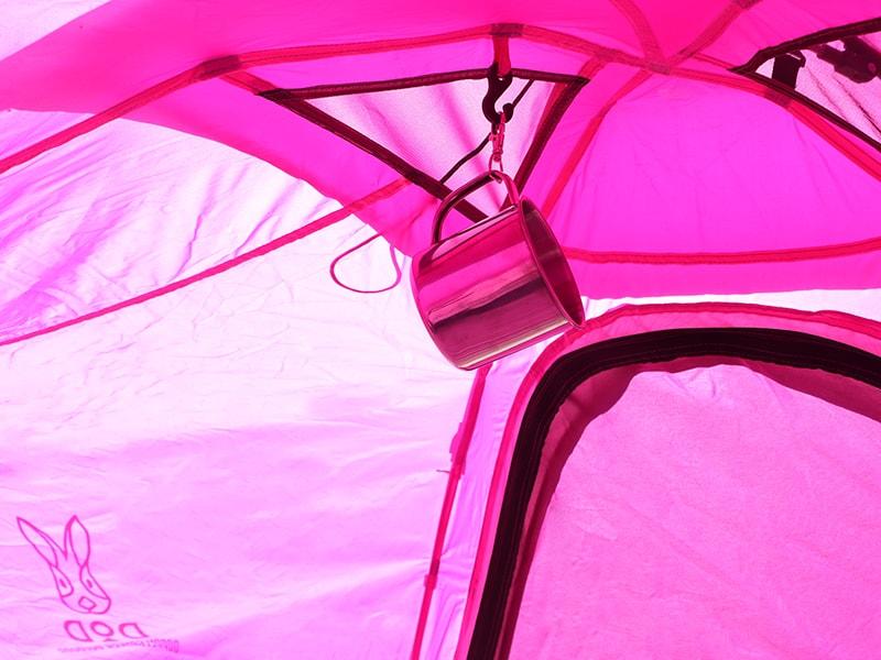 Hテントの各部の特徴(ランタンフック)