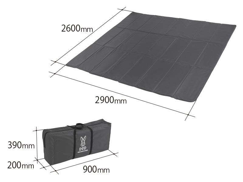 プレミアムワンタッチテント用テントマットのサイズ画像