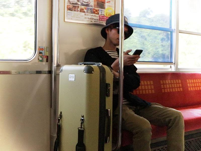 キャンパーノ・コロコーロのメインの特徴(電車やバスの中で邪魔にならない)