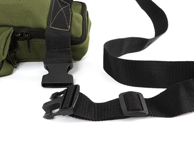 ペグマクハコブペグバッグの各部の特徴(ベルト装着簡単)