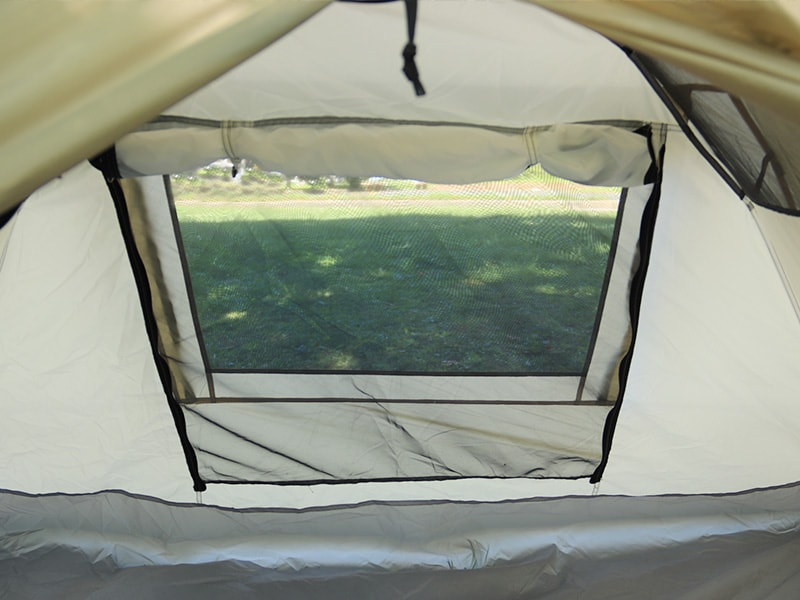 ライダーズワンタッチテントの各部の特徴(インナーテント側メッシュ窓)