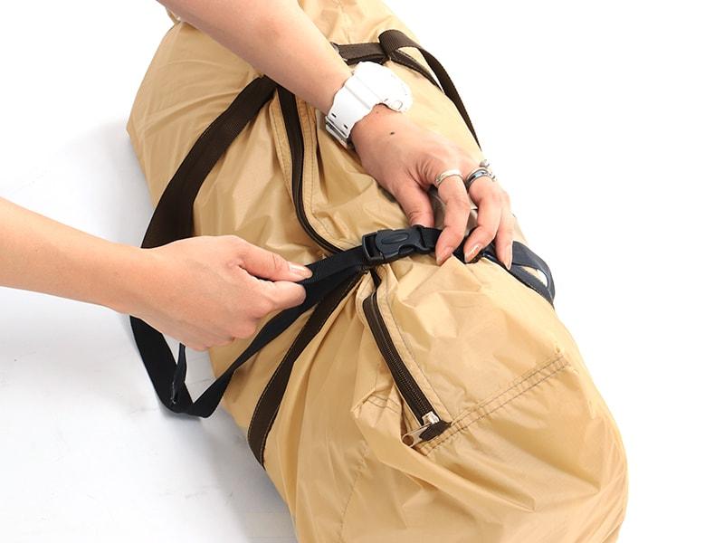 ライダーズワンタッチテントの各部の特徴(コンプレッションバッグ)