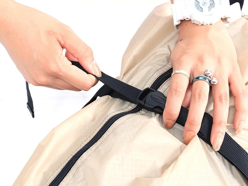 ライダーズタンデムテントの各部の特徴(コンプレッションバッグ)