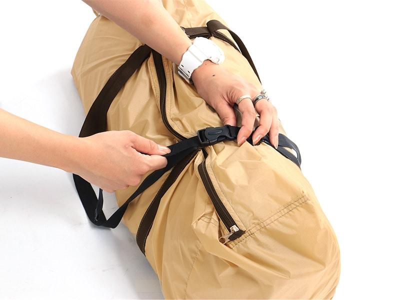 ライダーズバイクインテントの各部の特徴(コンプレッションバッグ)