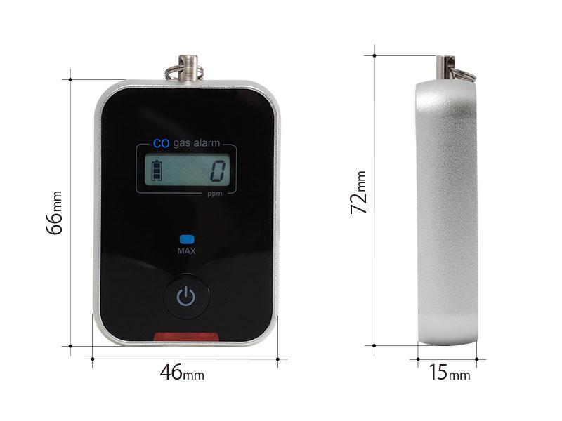 キャンプ用一酸化炭素チェッカー2のサイズ画像