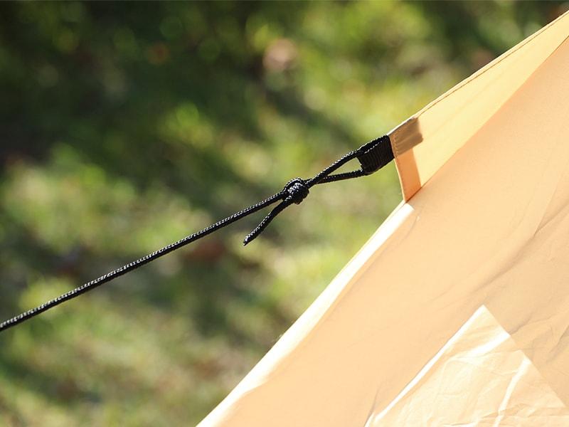 ライダーズワンポールテントの各部の特徴(ストームロープ)