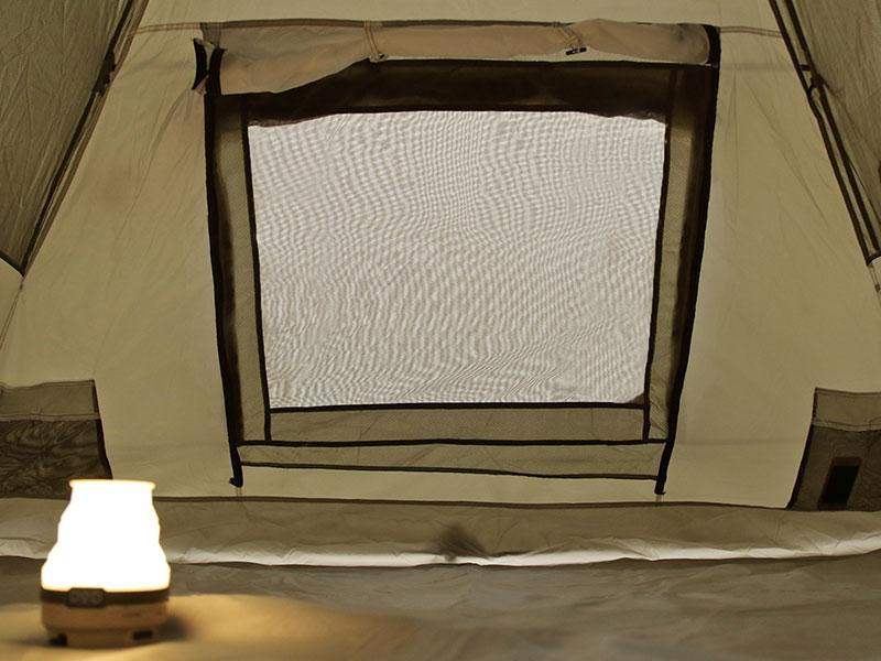 ライダーズタンデムテントの各部の特徴(大型窓(インナーテント側))
