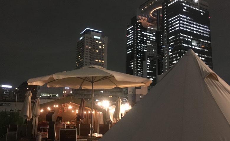 大阪・都会のど真ん中でグランピングを楽しめる「ウメキタ!!GLAMPING RESORT」体験レポート