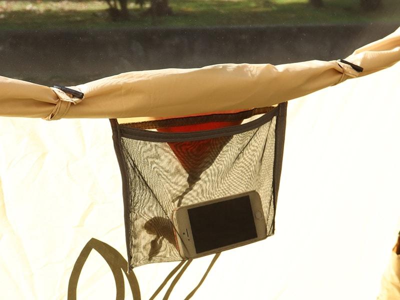 ワンタッチフィッシングテントの各部の特徴(インナーポケット)