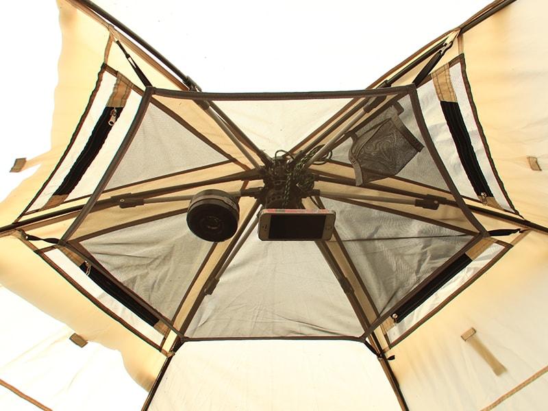 ワンタッチフィッシングテントの各部の特徴(ランタンメッシュシート)