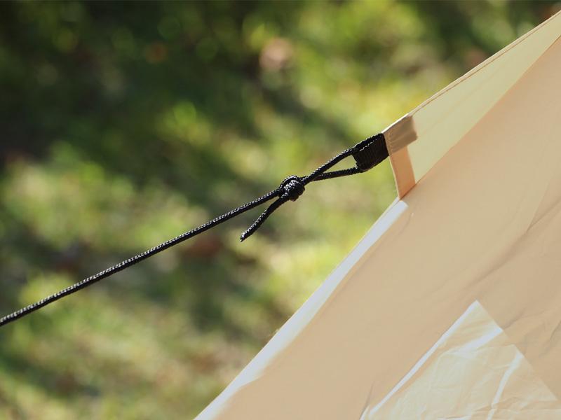 ライダーズワンポールテントの各部の特徴(ロープ)