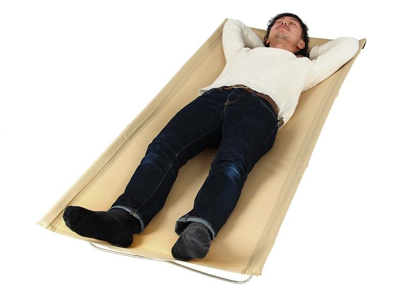 ワイドキャンピングベッドの使用の一例