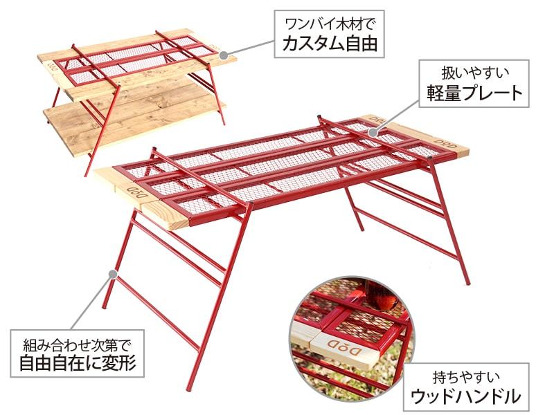カシステーブルの主な特徴