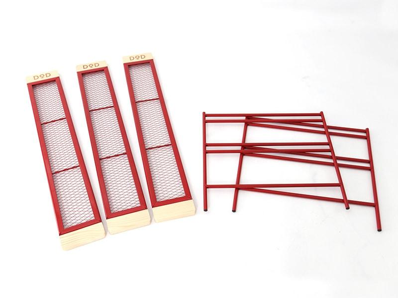 カシステーブルの各部の特徴(フラット収納)