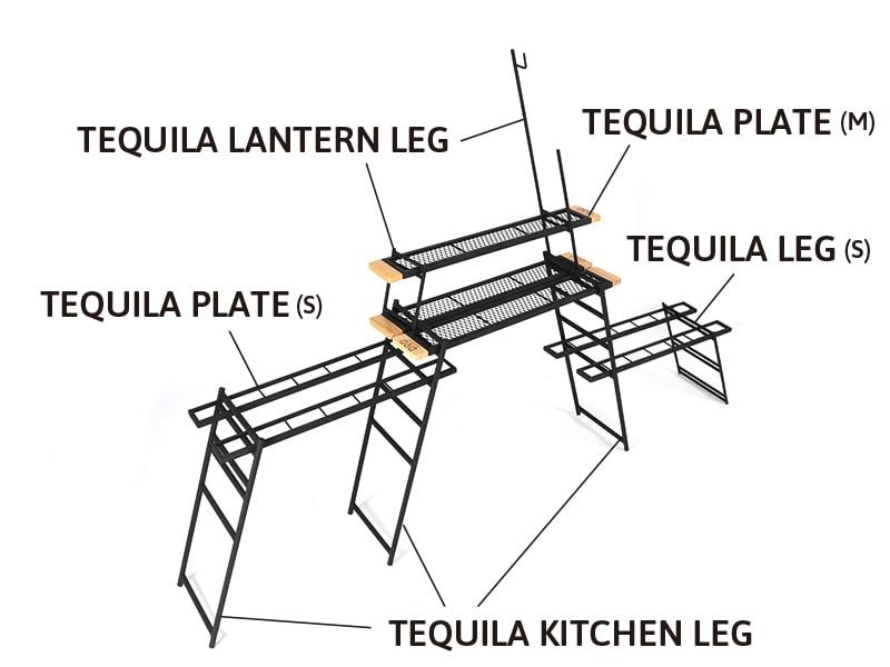 テキーラランタンレッグのメインの特徴(他製品と組み合わせて、使いやすいシステムキッチンに)