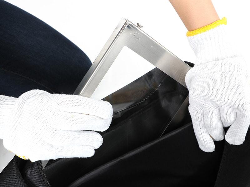 スケスケのまきちゃんの各部の特徴(ガラス窓保護クッション)