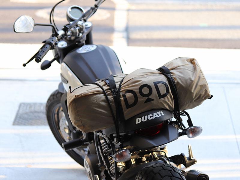 ライダーズベースのメインの特徴(バイクに積みやすいコンパクト性)