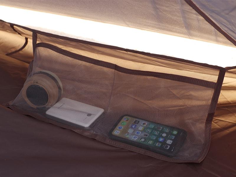 ワンポールテントの各部の特徴(インナーポケット)