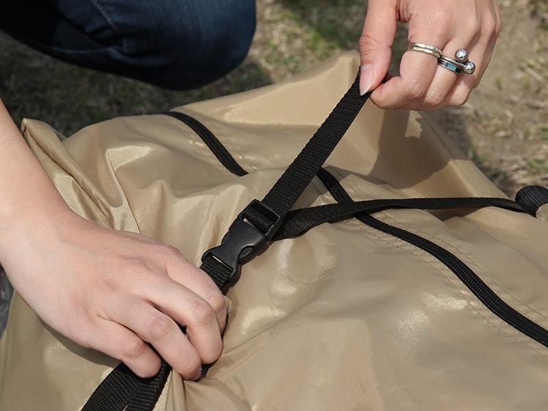 ロクロクベースの各部の特徴(専用コンプレッションバッグ)