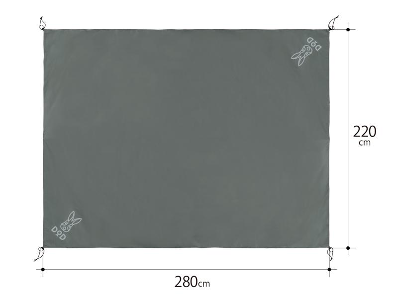 グランドシート(5人用)のサイズ画像
