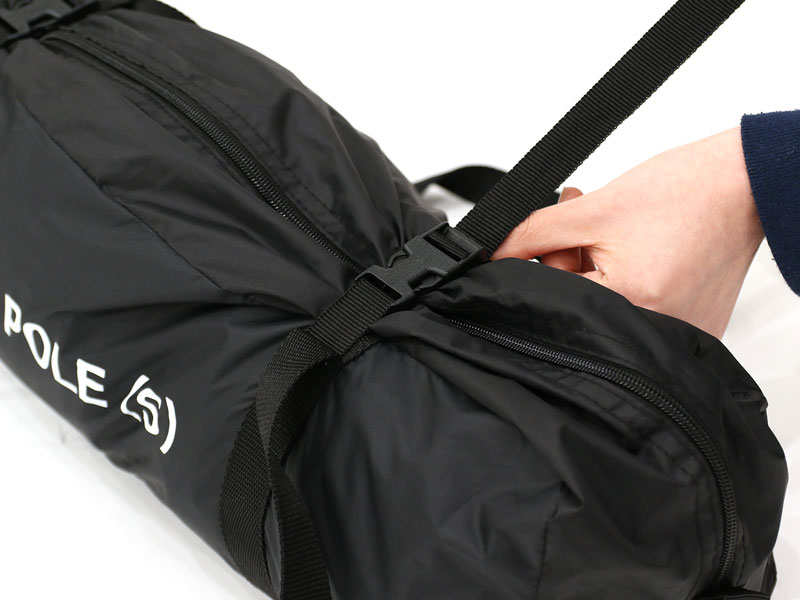 ワンポールテントSの各部の特徴( 専用コンプレッションバッグ)