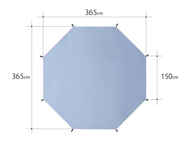 タケノコテントミニ用グランドシート サイズ画像