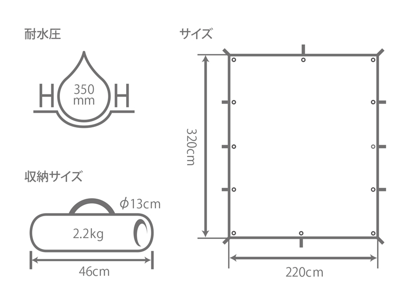 ムゲンタープのサイズ画像