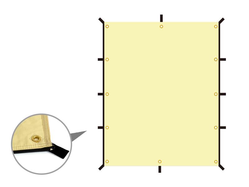 ムゲンタープのメインの特徴(自由自在に張れる)