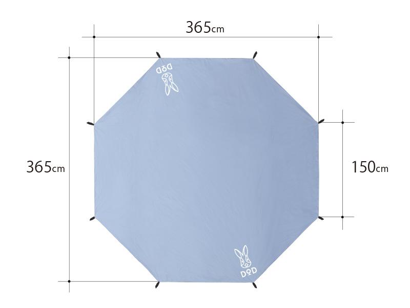 タケノコテントミニ用グランドシートのサイズ画像