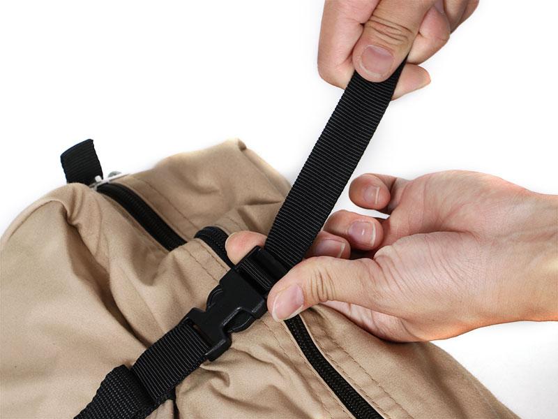 ヌノイチSの各部の特徴(専用コンプレッションバッグ)