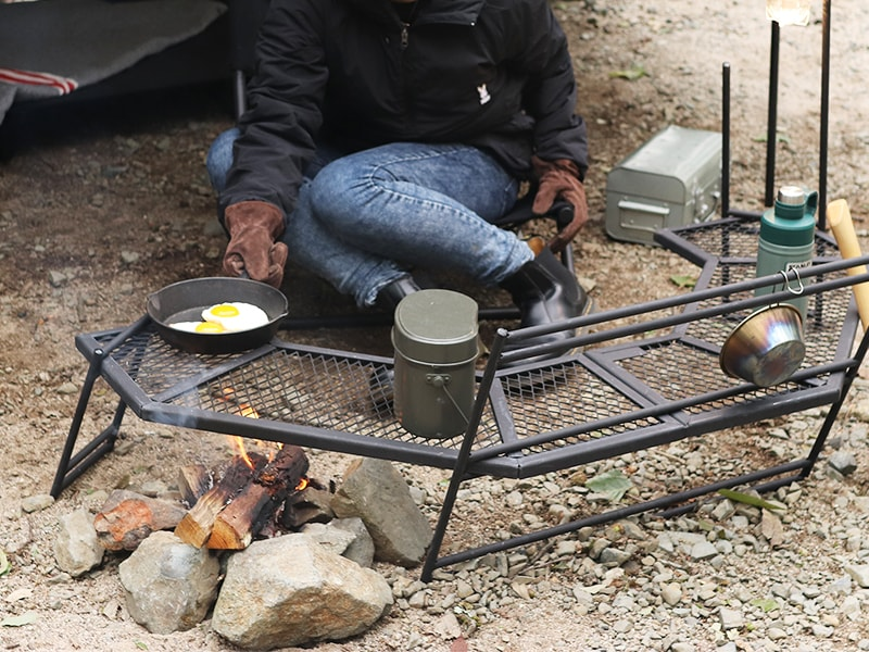 テキーラ180のメインの特徴(焚き火の上で使用できるタフなスペック)