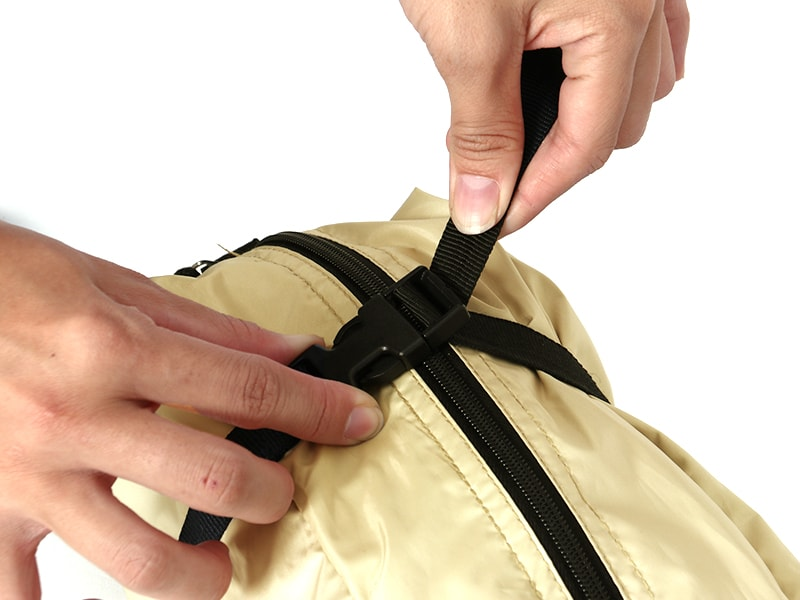 サカナシェードの各部の特徴(専用コンプレッションバッグ)