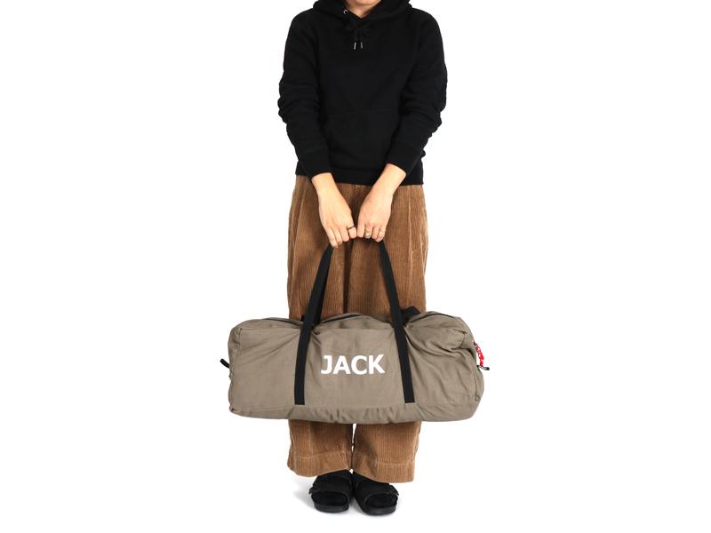 ジャケシュラのメインの特徴(テント型収納キャリーバッグ)