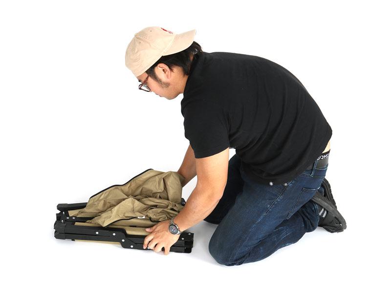 ストレージベンチの収納/撤収方法