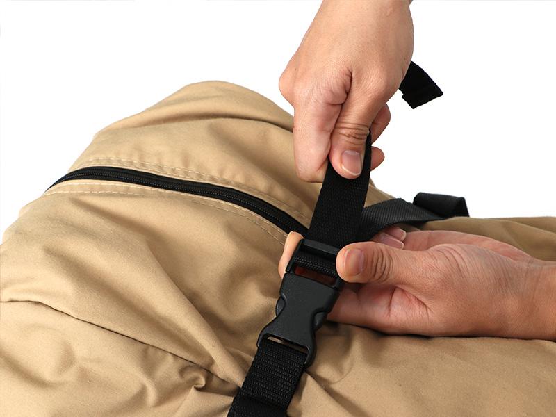 カマボコテントソロTCの各部の特徴(専用コンプレッションバッグ)