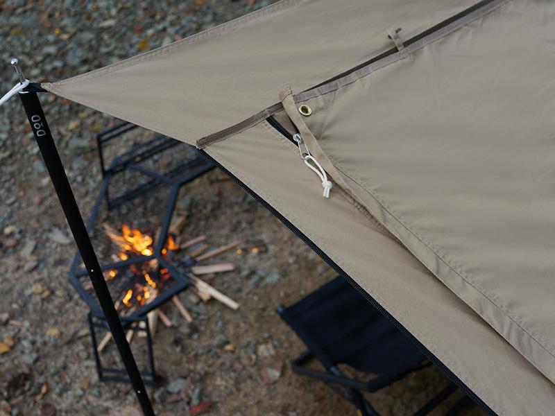 カマボコテントソロTCのメインの特徴(火の粉に強いポリコットン素材)