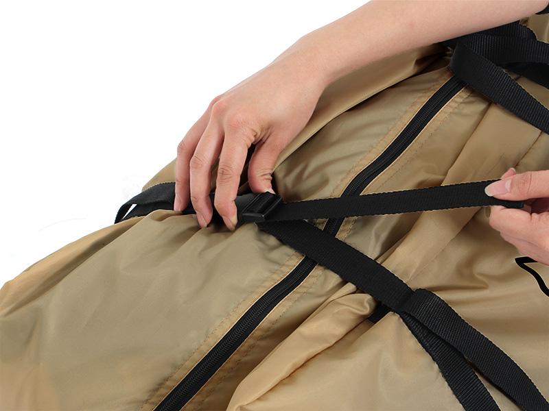 カマボコテントミニの各部の特徴(専用コンプレッションバッグ)