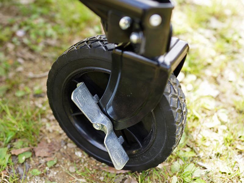 フォールディングキャリーワゴンの各部の特徴(安心タイヤロック付)