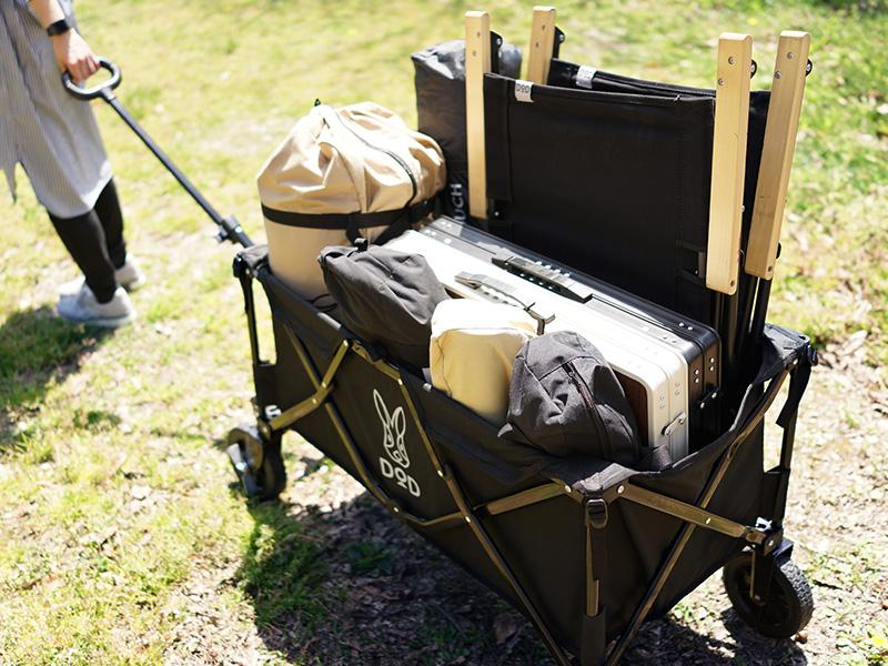 フォールディングキャリーワゴンのメインの特徴(大容量で荷物をまとめて運べる)