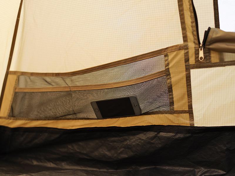 ワンタッチテントの各部の特徴(メッシュポケット)